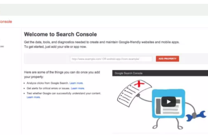 Google Search Console - for new website seo